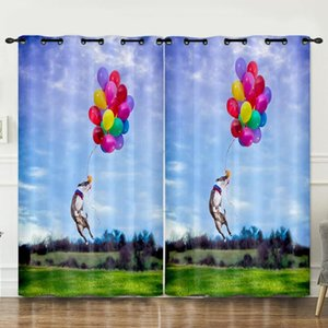 Curtain & Drapes Cats And Dogs Bedroom Living Room Decoration Background Cloth Pink Curtains Luxury
