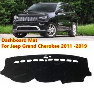 Pour Jeep Grand Cherokee WK2 2011-2019 Tapis antidérapant Tache Sunshade Dashmat Protect Tapis Tableau de bord Tableau de bord Coussin de couverture Accessoires