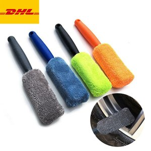 Car Wash Portable Microfiber Wheel Tire Rim Brush Car Wheel Wash Cleaning Car With Plastic Handle Auto Washing Cleaner Tools