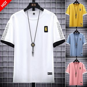 2021 New Hip Hop Pink Tee Shirt Graphic t Shirts Summer Homme Fashion Embroidery 6 Men Funny Plain White Tshirt ZBFQ