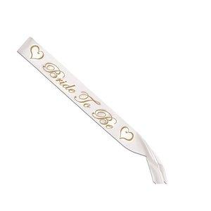 For Bachelorette Women Sashes Gold Letter Bride To Be Satin Sash Bridal Shower Wedding Hen Party Decorat jllBXA sport777