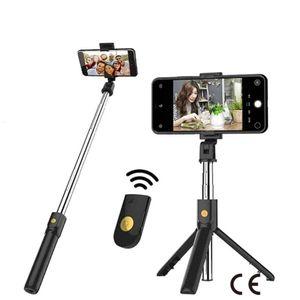 ترايبود K07 بلوتوث التحكم عن بعد الهاتف المحمول الكاميرا الحية مستقيم مصغرة عصا selfie