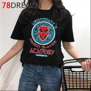 Slayer T Shirt Erkekler Yaz Üst Karikatür Kimetsu Yok Yaiba Japon Anime Bıçak Grafik Tees Unisex Erkek
