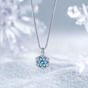 HBP мода роскошный новый корейский темперамент простой личности цепи ключицы цепи снежинки ожерелье подвеска, чтобы дать подарки