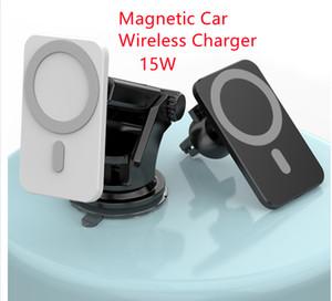 15W شاحن سيارة مغناطيسية لاسلكية سيارة حامل سوبر الامتزاز ل IP12 سريع لاسلكي شحن سيارة حامل الهاتف المحمول
