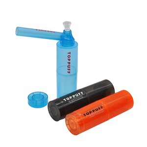 Nuovo tubo di sigaretta TopPuff Plastica Acqua A Forma di vetro Bong Raccordi Bong Acqua Tubo d'acqua Commercio all'ingrosso facile da pulire il narghilè