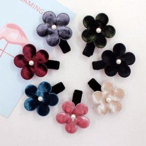 Akcesoria do włosów Boutique 30 sztuk Moda Cute Velvet Floral Hairpins Solid Kawaii Klipy Słonecznika Księżniczka Nakrycia głowy