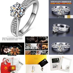 Factory Tiktok Kwai sang New Style Sterling Silver double row micro inlaid simple fashion wedding ring, Moore mullite L1QI