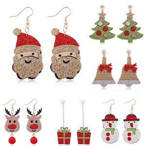 인기 펠트 패브릭 크리스마스 귀걸이 사슴 벨 귀걸이