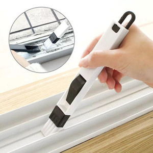 Multi-purpose Door and Window Groove Cleaning Brush Kitchen and Bathroom Keyboard Small Brush with Dustpan Gap Dry Brush HWB5213