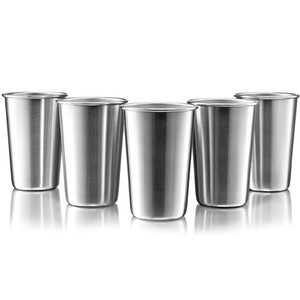 New Stainless Steel Metal Cup Beer Cups White Wine Glass Coffee Tumbler Tea Milk Mugs Outdoor Travel Camping Mugs GWF5154