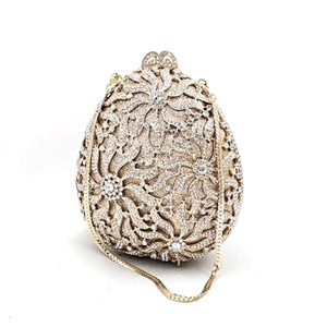 Luxury Ladies Bridal wedding party purses elegant purses women designer egg shape bag diamonds crystal evening clutches
