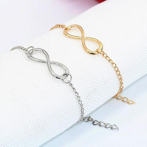 Charm Bracelets Fashion Gold Silver Bracelet,Eight Shape Bracelet Girl Jewelry Bracelet