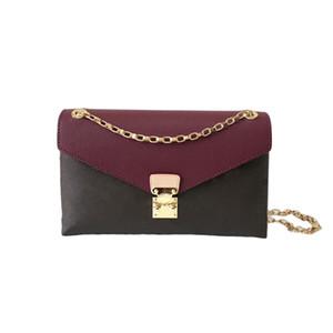 Moda mujer bolsa bolso bolsa de hombro messenger cruz cuerpo bolso monedero cuero código fecha flor 3colors size26.0 x 17.0 x 6.0 cm M41200