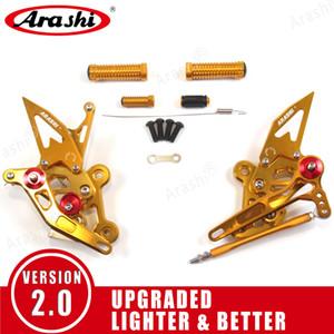 Arashi ( Version 2.0 ) Adjustable Rearsets Footrests Footpegs Foot Peg Motorcycle For Suzuki GSX-S750   GSXS750Z 2015-2019 GSR750 2011-2017
