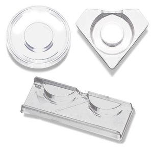 Wholesale 100pcs Clear Lash Trays Plastic Mink Lashes Holder Eyelash Tray for Eyelash Packaging Box Square Case Bulk Vendors