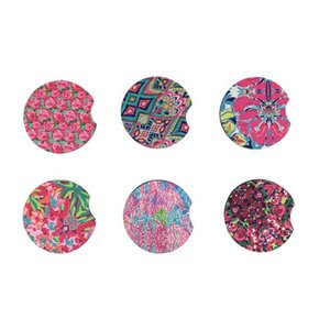 Wholesale Cheap Colorful Anti Slip Waterproof Blank Sublimation Round Neoprene Rubber Car Cup Holder Coaster Cup Mat