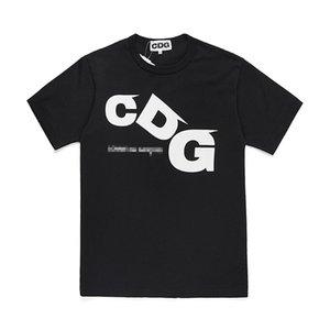 Com Meilleur de la meilleure qualité CDG Classic Tee Marque Nouveau Noir Hommes Jouer T-shirt Blanc Court Sleeve Tops Japon Casual Shirts Tee