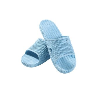 Home knitted slippers female summer home indoor bathroom bath non-slip sandals male home slippers couple bathroom non-slip slippers