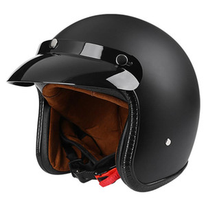 Open Face Helmet Motocross Capacete De Capacete Cascos Para Casque Moto Motorcycle Accessories Atv Motorcycle Matte Black