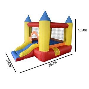 Pequeno inflável trampolim jardim suprimentos castelo casa moonwalk crianças playground outdoor infantil crianças corrediça saltando salto bouncy parque de diversões