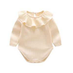NOUVEAU-né à rayures à rayures 9 Design Baby Jumpsuit Triangle Automne Spring à manches longues Coton épais Goy Girls Outfit 3-24M YYS3234