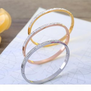 top quality famous brands jewelry for women wedding party crystal stainless steel bangles best gift for Christmas