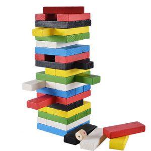 Wooden Stacking Tumbling Tower Blocks Educational Toys Kids Interaction Game Wood Digital Jenga Building Blocks Toys Child
