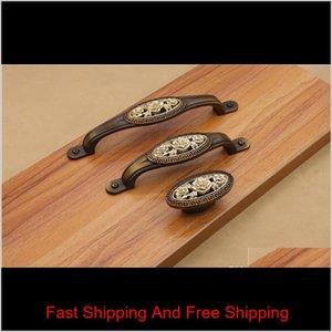 Ручка ручки дверные аппаратные изделия старинные розовые ящик тянет ящик тянет ручки кабинета ручки вытягивает античный медь y0u qomjo