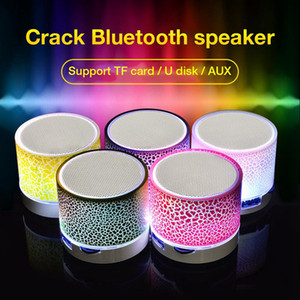 A9 Bluetooth Speakers With 7color LED Wireless Bluetooth speaker hands Portable Mini loudspeaker free TF USB FM Support sd card PC