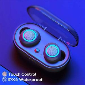 TWS Wireless Earphones Bluetooth Earphone 5.0 Bass Stereo Waterproof Earbuds Handsfree Headset With Microphone Charging Case