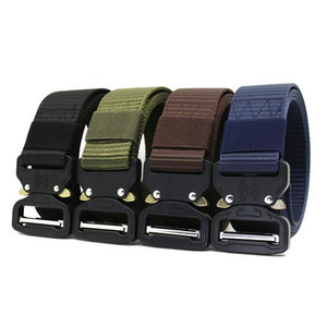 New Cobra Nylon Belt Men's Outdoor Tactical Belt Alloy Buckle 3.8cm Bandwidth and 120cm Length