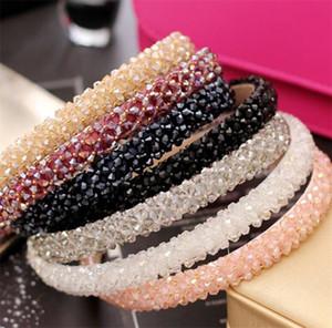 Nueva banda de vidrio de cristal multicolor de la moda de la banda de pelo hecha a mano para las mujeres para las mujeres accesorios para el cabello joyería de la joyería de la joyería 168 T2