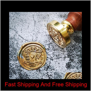 Diy Customize Double Name 2 Initials Personalized Letter Stamp Sealing Wax  Wedding Wax Seal Stamp Custom Invitations Envelop Sweet07 1Mtki