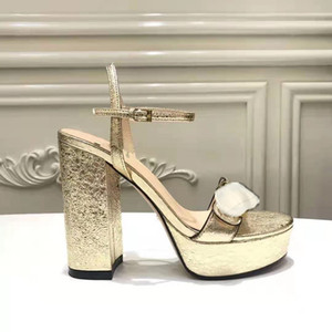 Yeni Lüks Yüksek Topuklu Deri Sandal Süet Orta Topuk 11 cm Kadın Tasarımcı Sandalet Yüksek Topuklu Summe Rwomen Sandalet Boyutu 35-42