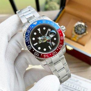 Классические мужские часы Автоматические механические часы Сапфировое зеркало из нержавеющей стали ремешок из нержавеющей стали идеальное качество водонепроницаемый дизайн наручные часы 40 мм Montre de luxe