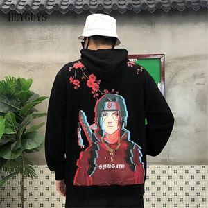 Nagri Yeni Erkekler Hip Hop Hoodies Japon Harajuku Karikatür Naruto Hoody Pamuk Büyük Boy S M L XL 201128