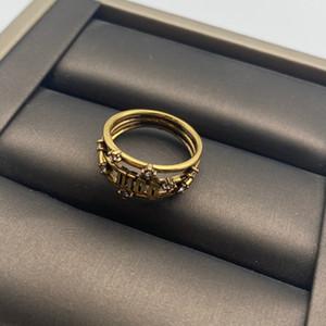 Письмо пустое моассанитное кольцо для леди женщины вечеринка свадебные любовники подарок вовлечение украшения для невесты с коробкой бесплатная доставка PS4266