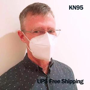 5ply KN95 Yüz Maskesi Yumuşak Dokunmamış Filtrasyon Mascarillas KN95 GB2626 2006 GB2626 2019 FFP2 Koruyucu Özellikler 95% PM2.5 UPS Ücretsiz Kargo