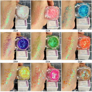 Elf Sequin Glitter Eyeshadow Gel Cream Free Glue Aloe Vera Gel Glow Sequin Multi-Function Makeup for Eyeshadow Body Hair