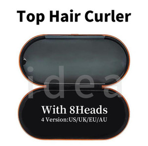 8 teste Capelli Bigodino con scatola regalo Dispositivo per lo styling per capelli multifunzione Automatico Curling Ferro per capelli normali Top Quality EU / UK / US / AU