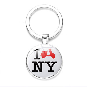 Moderna New York Statua portachiavi della Liberty Art Photo Glass Glass Cabochon Portachiavi auto Catena chiave American Souvenir regalo gioielli moda gioielli