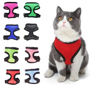 Nylon Pet Mesh Harness Soft Net Dog Mini Vest Collars Adjustable Breathable Puppy HarnessDog Supplies 21 Designs WLL747