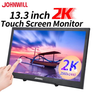 """13.3""""2K monitor touch screen 2560*1440P portable monitor for notebook host advertising camera car mini TV PS4 xbox switch"""