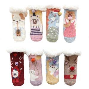 2021 Kids Socks Toddler Baby Girl Christmas Sock Newborns Cotton Winter Designer Boy Clothing New Santa Claus Bear Elk Gift Mhob