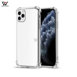 For iPhone 13 Pro Max Mini 12 11 7 8 Plus Xs Transparent Clear Phone Cases TPU Acrylic Silicone Back Cover Shell Shockproof