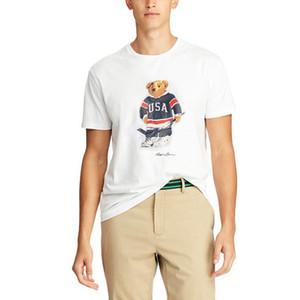 Taille des États-Unis Mens femmes Designer T-shirts Polo Bear Chemise Martini Bear Tshirt Sleeve Sleeve Etats-Unis T-shirt Coton Hockey Bear Dropshipping