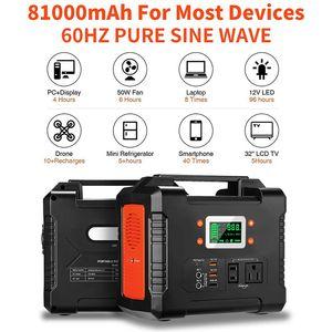 330 W Taşınabilir Güç İstasyonu, Flashfish 81000 mAh Solar Jeneratör 110 V AC / DC / USB / PD-Tip-C / Araba Bağlantı Noktası / SOS Işık, Yedek Pil Paketi Güç