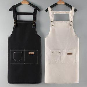 Avental de algodão Impressão de cozinha Respirável restaurante garçom à prova de óleo quatro estações