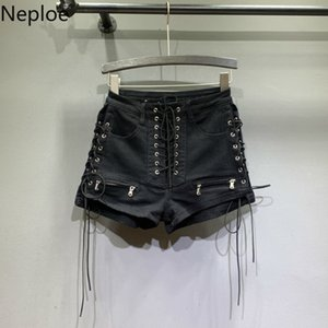 Neploe High Tail Loss Women Solid Cord Fashion Short Soft Casual Straight Jean Shorts Summer 2021 45423